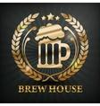 Stylized mug of beer wreath vector image
