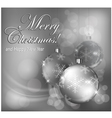 christmas background baubles gray 10 SS v vector image vector image