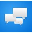 Paper Cut Speech Bubble Background vector image