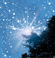 welcome snowflakes vector image vector image