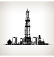 Silhouette Drilling Rig vector image