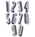 3d tall condensed numbers set vector image