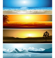 Set of Geographical Locations vector image