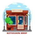 Key and locks local shop or store vector image