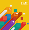 abstract flat infographic background template with vector image