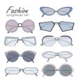 fashion glasses set hand drawn sunglasses vector image