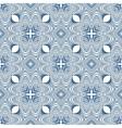 floral blueprint mediterranian pattern vector image