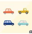 Four city cars Transportation set 7 vector image