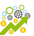 growth funding presentation graph vector image