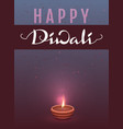 happy diwali indian festival of lights lettering vector image