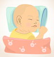 sleeping baby vector image