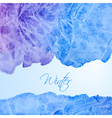 Winter watercolor background vector image