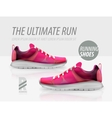 running shoes ad product template vector image vector image