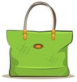 women green canvas bag vector image vector image