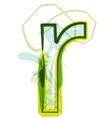 Green letter R vector image vector image