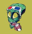 alienhead vector image