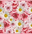seamless pattern flowers vector image