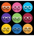 Glasses frame icons vector image vector image