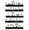 LGBT cheering crowd vector image