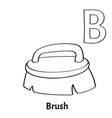 alphabet letter b coloring page brush vector image