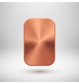 Bronze Abstract Square Button Template vector image