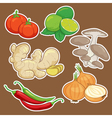 cute cartoon Vegetable set vector image