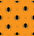 halloween pattern seamless vector image