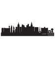 Las vegas nevada skyline detailed silhouette vector image