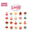Lovely Cupcake Set vector image