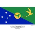 National flag of Christmas Island with correct vector image