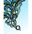 Oxygen splash - abstract design vector image