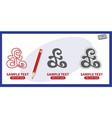 pound sign money symbol logo vector image