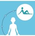 silhouette woman healthy yoga vector image