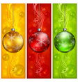 christmas banners ornament color background 10 v vector image vector image