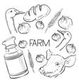 Farm collection - hand drawn set vector image