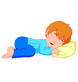 little boy sleeping on a white background vector image