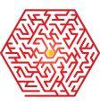 hexagon maze vector image