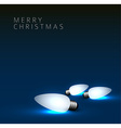 background with christmas lights vector image vector image