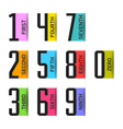 Numbers set design element vector image vector image