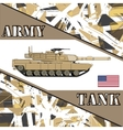 Military tank american army Armur vehicles vector image