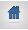 House icon with shadow vector image