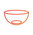 kitchen bowl dishware empty utensil restaurant vector image