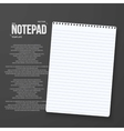 Realistic Notepad Office Equipment Element vector image