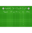 Soccer Championship Group Stages on green field vector image