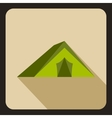 Tourist tent icon flat style vector image