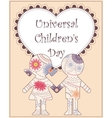 Universal children day background vector image