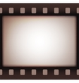 Vintage retro old film strip background vector image
