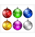 christmas color balls 10 3 v vector image vector image
