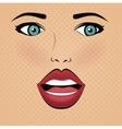 face lips woman pop art d vector image