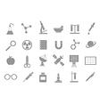 Sciense gray icons vector image